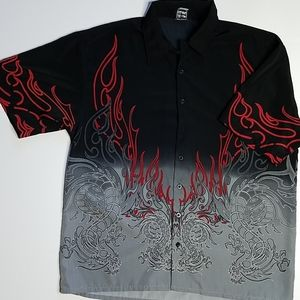 AUTHENTIC SHAOLIN Short Sleeve Button Down Shirt